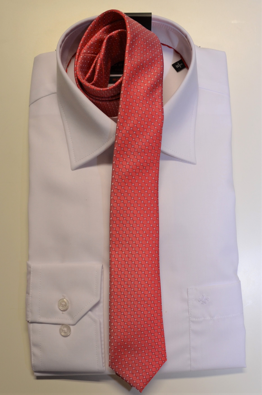 Junior-Krawatte Slim koralle