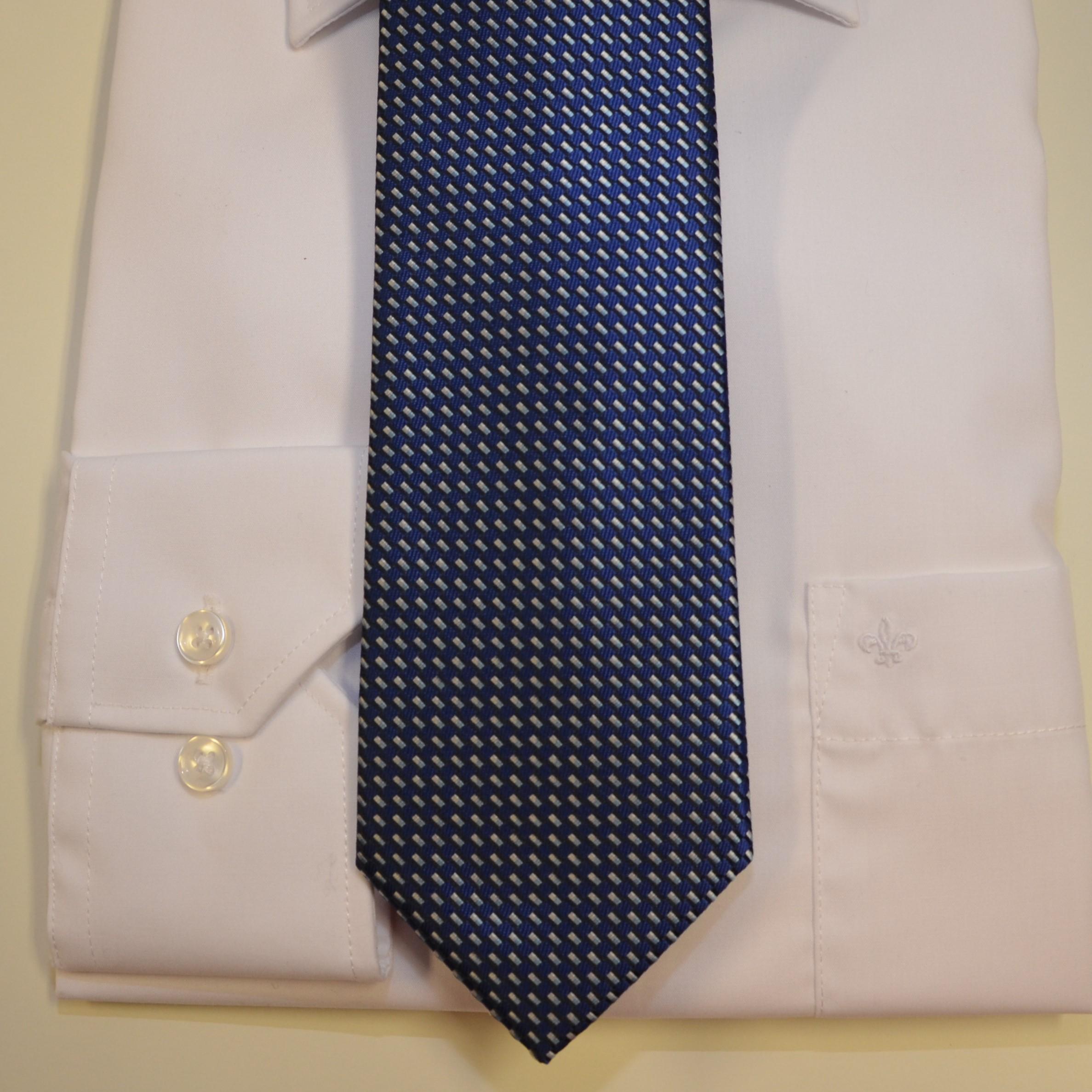 Krawatte blau strukturiert