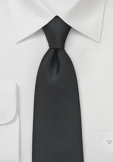 Krawatte teerschwarz