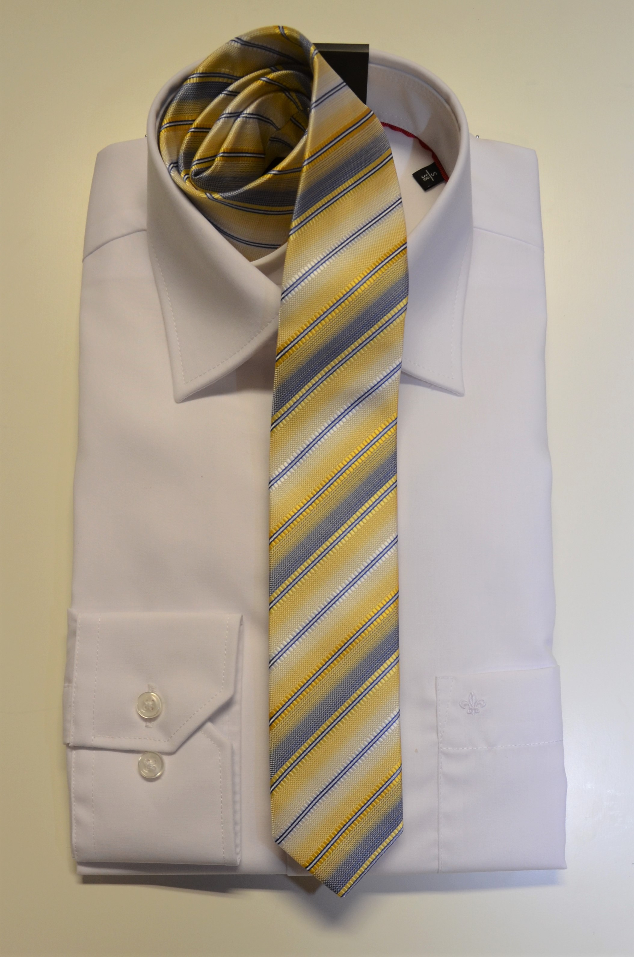 Junior-Krawatte Slim gelb