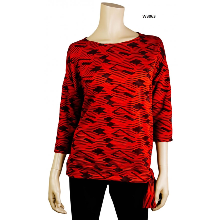 Shirt in rot 3/4-Arm