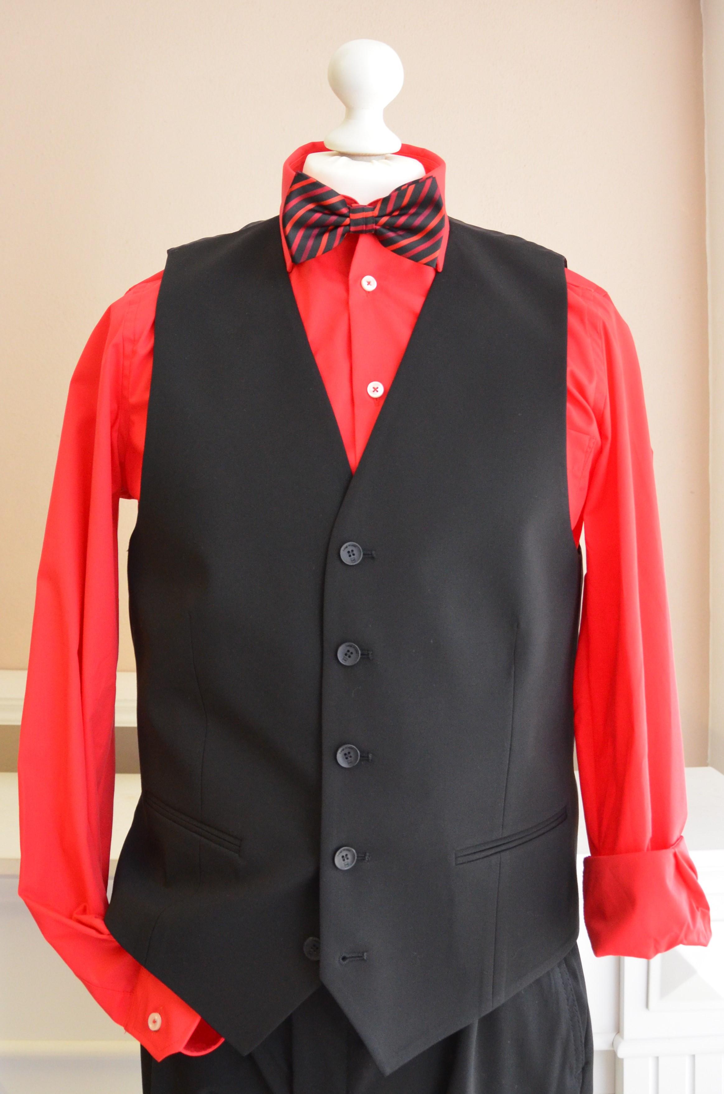 Anzugs-Weste schwarz