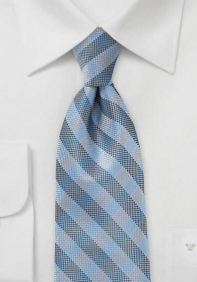 Karo-Krawatte taubenblau