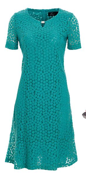 Festkleid in Smaragdgrün