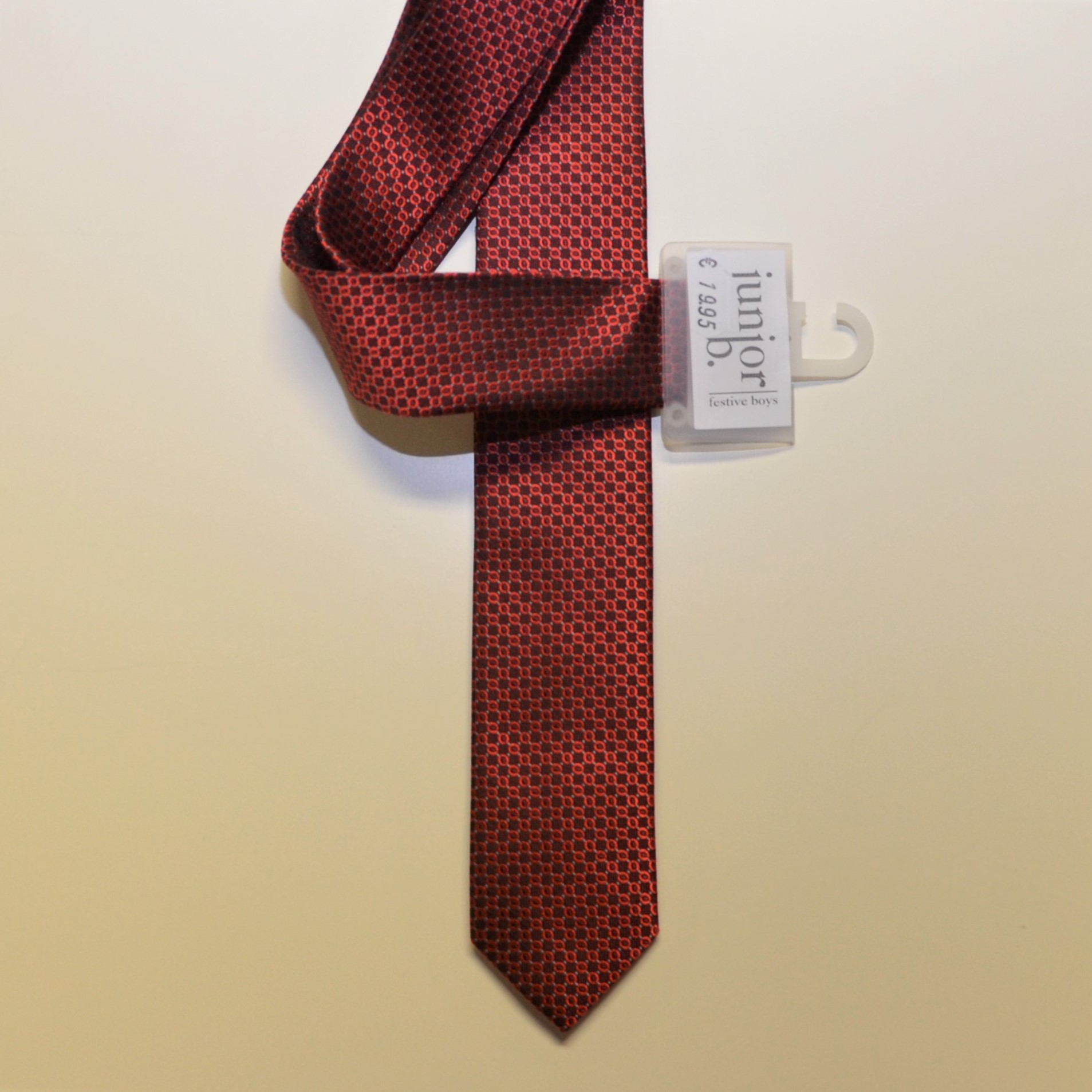 Junior-Krawatte Slim weinrot