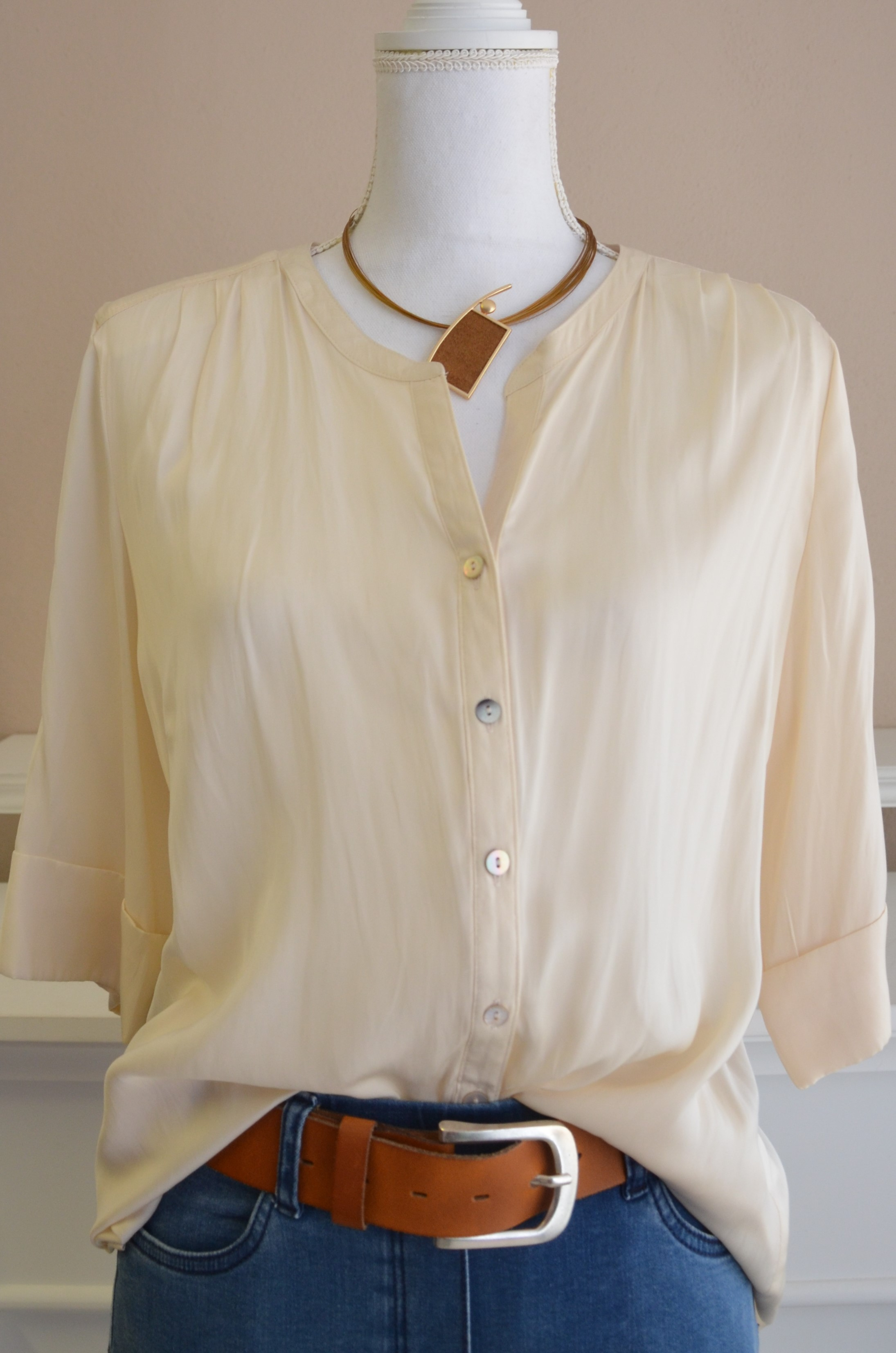 Bluse im sportiven Look