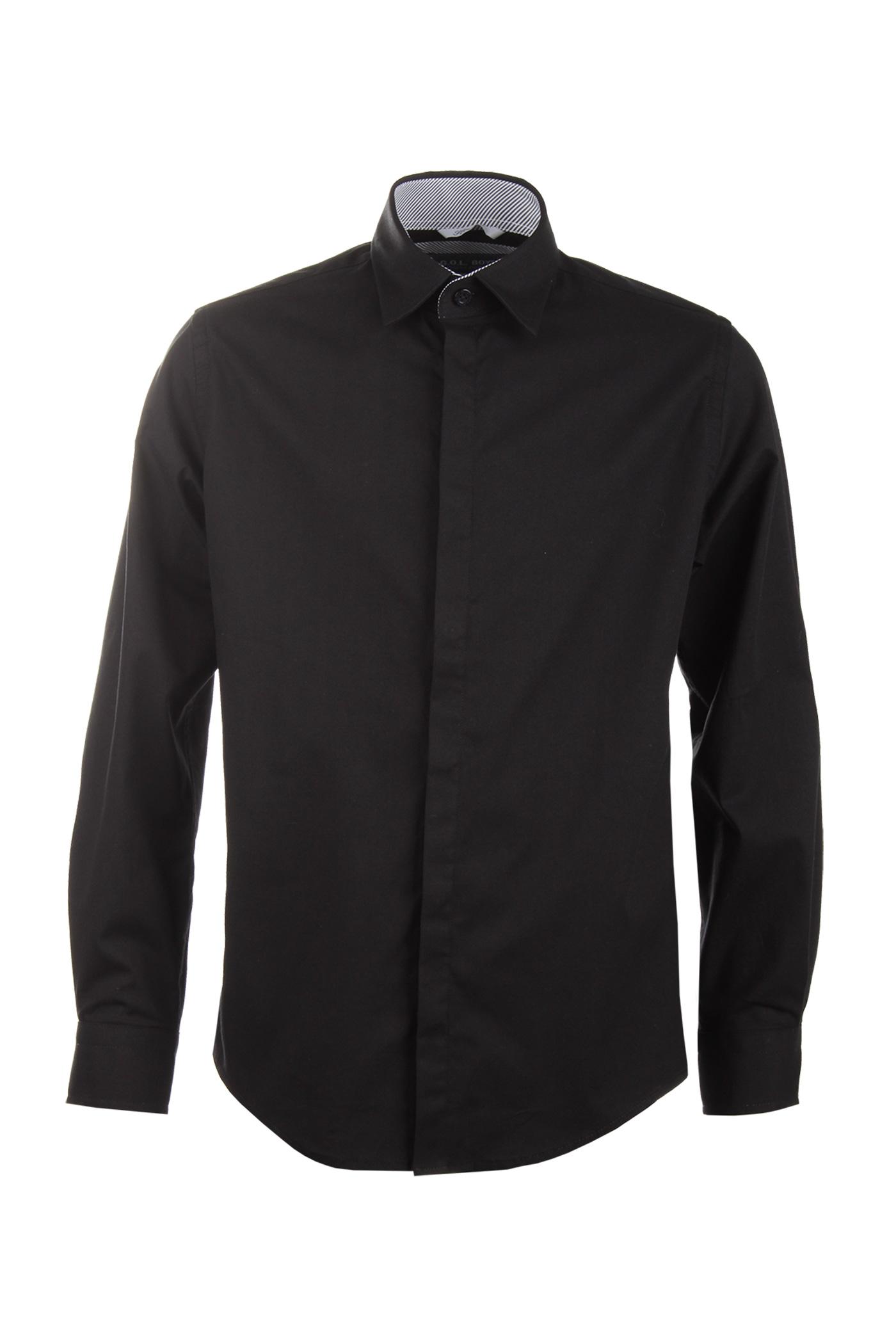 Junior-Hemd schwarz