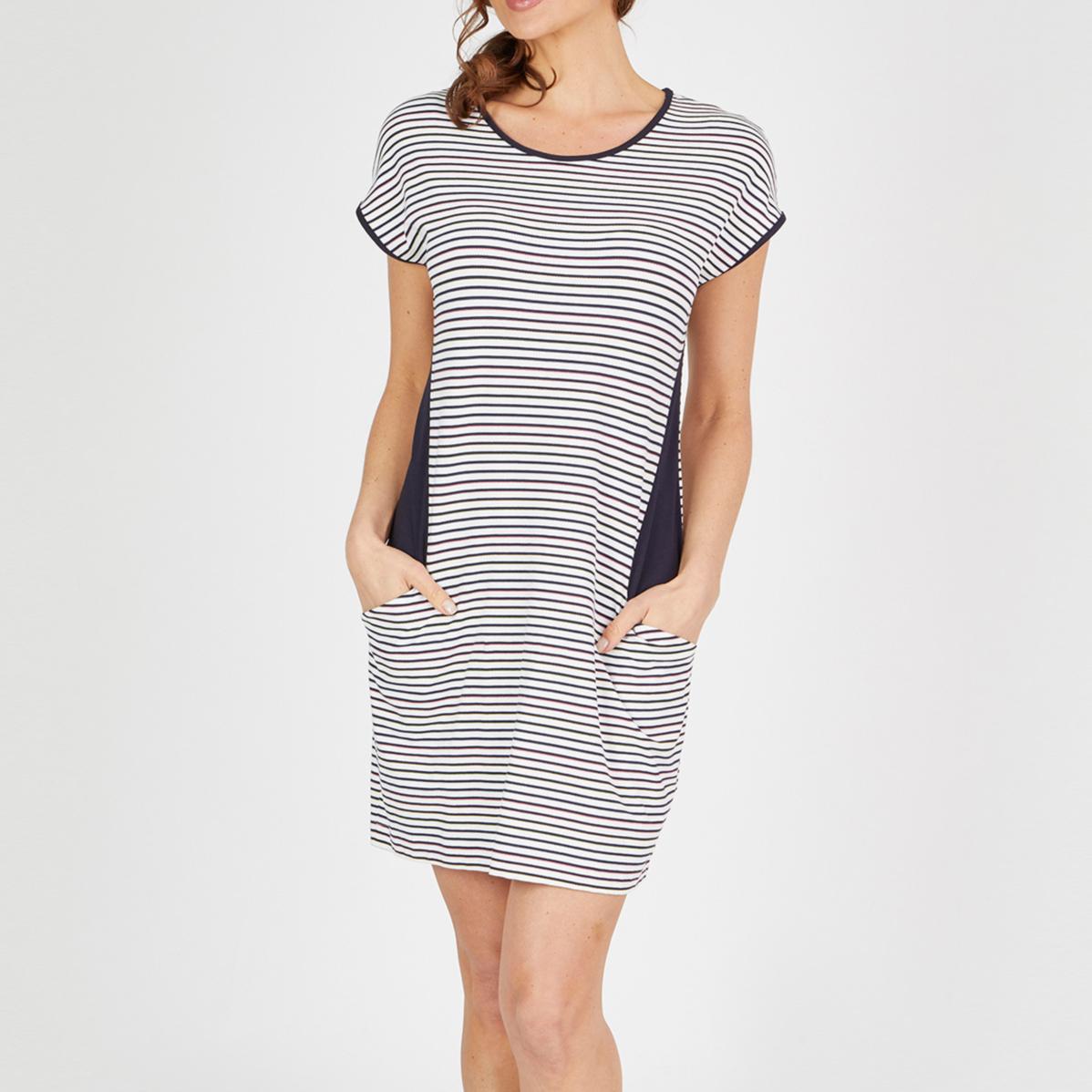 Sommerkleid im Streifen-Look